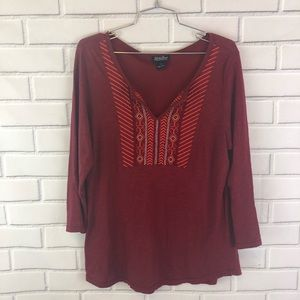Lucky Brand | Embroidered Top